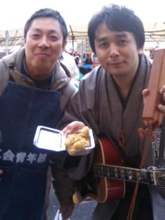 穴水町雪中ジャンボかき祭り!