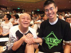 Dscf7385 二代目三波伸介師匠と相撲博士で整体師の菅原尚晋さんであります。 「雲上人の三波